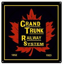 Grand Trunk Railway System Railroad Sign Square