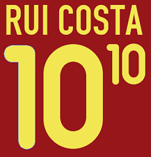 Portugal Rui Costa Nameset 2000 Shirt Soccer Number Letter Heat Print Football H