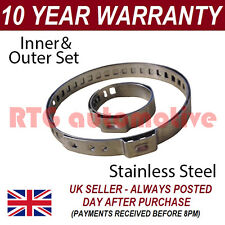 CV BOOT STAINLESS STEEL CLAMPS PAIR INNER & OUTER FITS ALL VEHICLES UNIVERSAL