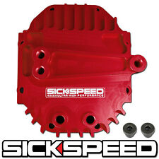 SICKSPEED RED REAR DIFFERENTIAL HIGH VOLUME CAPACITY COVER BILLET ALUMINUM