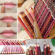 New 12 PCS Colors Professional Lipliner Waterproof Lip Liner Pen Pencil 15CM HC