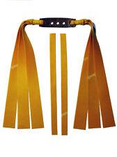 3 Fach Theraband Gold Flachbandgummi Länge 25cm / Für starke Schleuder, Zwille