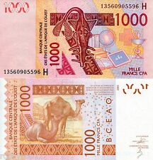 NIGER 1000 Francs Banknote World Money Currency BILL 2012 Note West Africa State