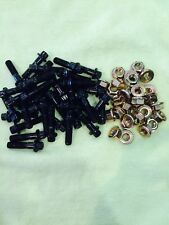 40 Pcs  Assembly 8mm Powder Coated Black Bolts For 2 And 3PC Wheel include NUTS!