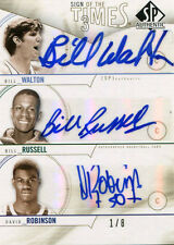 2010 SP AUTHENTIC SIGN OF THE TIMES AUTO WALTON/RUSSELL/ROBINSON 1/8 S3-RWR