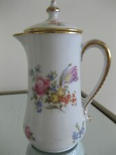 Ant Limoges Syrup Pitcher & Lid Dresden Floral Vignaud Wright Tyndale VanRoden