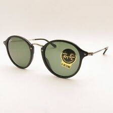 Ray Ban RB 2447 901 Black 49 G15 Green 100% Authentic Sunglasses