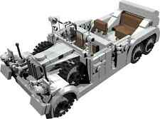 CUSTOM building INSTRUCTION WW2 Mercedes Benz G4 W31 to build out of LEGO® parts