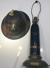 WWI Trench Art Working Light Camo Painted US 3rd Army Helmet Fame 75mm Shell