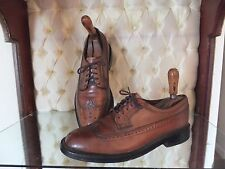 MENS VINTAGE HANOVER TAN WINGTIPS LEATHER OXFORDS SIZE 8 E USA MADE TO LAST!