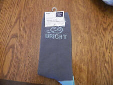 "NWT GAP womens trouser socks heather blue w/glitter ""merry&bright"" one size fits"