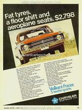 1969 CHRYSLER AUSTRALIA VF VALIANT PACER A3 POSTER AD SALES BROCHURE MINT