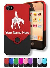 Personalized iPhone 4 4G 4S Case/Cover - WESTERN PLEASURE HORSE, HORSEBACK