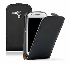 Black PU Leather Samsung Galaxy S 3 mini i8190 LA FLEUR Vertical Case cover