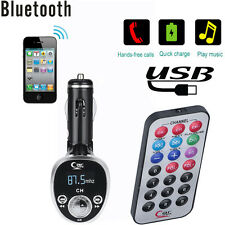 Car Bluetooth Kit MP3 Player FM Transmitter Wireless Radio Adapter USB Charger33
