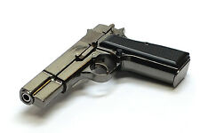 Metal scale miniature gun model - scale 1:2  Brownig HP M1935 pistol Silver