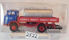 Brekina 1/87 48583 Mercedes Benz L328 LKW Pritsche mit Tank HARIBO OVP #2722