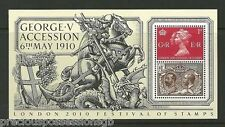 GB MNH STAMP SHEET 2010 LONDON KGV ACCESSION SG MS3065 10% OFF ANY 5+