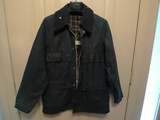 BARBOUR-  A105 BEDALE  WAXED COTTON JCT-4 FRONT POCKETS-WELL USED-SHABBY CHIC-36