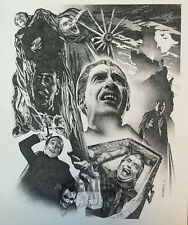 CHRISTOPHER LEE Brent Armstrong DRACULA Giclee ART PRINT #d/125 SIGNED Poster!