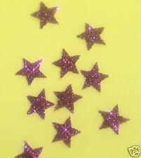decorazioni da applicare 30 stelle 1cmFlex termoadesivo GLITTER LAMPONE hotfix