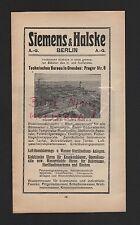 BERLIN, Werbung 1911, Siemens & Halske AG Wernerwerk Röntgen-Apparate