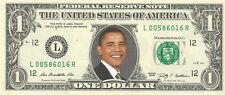 President Barack Obama {in COLOR} - REAL Dollar Bill