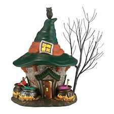 Department 56 Snow Village Halloween Three Witches Cauldron Haunt Lit House,