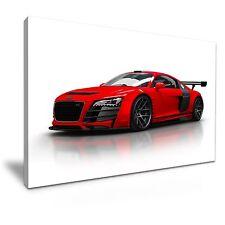 Rosso AUDI R8 Super Car arte moderna a muro foto stampa 60x30cm