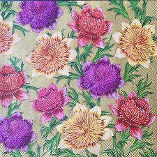2 single paper napkins Decoupage Crafts Collection Serviette Small Roses Flowers