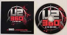 U2 'A 360 Landscape Limited Edition' Mexican Very Scarce 6-track Giveaway CD