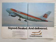 3/1981 PUB AIRBUS A300 AIRLINER IBERIA SPANISH AIRLINES ESPAGNE ORIGINAL AD