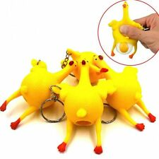 Hens Pranks Novelty Gadgets Spoof Vent Toys Chickens Lay Eggs Keychain Funny
