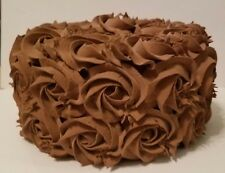 CHOCOLATE ROSETTE FAKE CAKE CHRISTMAS VALENTINES DAY CENTERPIECE READY TO SHIP