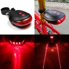 5 LED+2 Laser Cycling Bicycle Bike Rear Tail Safety Warning Flashing Lamp Light