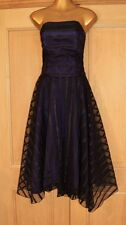MONSOON BLACK PURPLE RIBBON EVENING OCCASION COCKTAIL PARTY DRESS SIZE 14