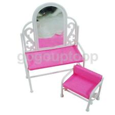 Pink Dressing Table Chair Set Bedroom Furniture Decor for Barbie Sindy Dolls