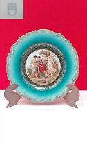 Plato decorativo de porcelana de Austria Viena. Imagenes de epoca en decoracion.