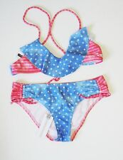 O'Neill Girls Freedom Ruffle Bikini Swim Set Americana Sz 14 - NWT