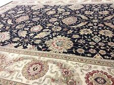 8.3 x 10.6 Persian Oriental Area Rug Hand Knotted Zigler Black Ivory Carpet