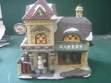 Santa's Workbench Interior Series Hearthstone Bakery 2003 Lighted House