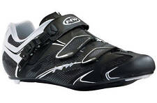 NORTHWAVE SONIC SRS ROAD CYCLING SHOES BLACK/WHITE EU45 NEW BOXED RRP £99.99