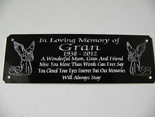 Angel Bench Memorial Personalised Engraved Plaque Plate Sign 160x55mm