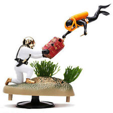Treasure Tug of War Diver Action-Air Aquarium Ornament Fish Tank Decoration