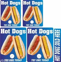 Hot dog stickers 5 piece set  ice cream van  catering trailer takeaway cafe BBQ