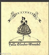 EX-LIBRIS de Hella GLAUBER-WROMBEL par Hans Bohn.
