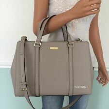 NEW! KATE SPADE Moussfrost Saffiano Leather Carryall Tote Shoulder Crossbody Bag