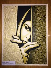 """New SHEPARD FAIREY - OBEY - ISRAEL PALESTINE """"GOLD"""" XXX/475 SOLD OUT/SIGNED!"""
