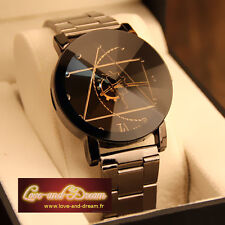 Montre homme « L'horloger ». Bracelet en acier inoxydable. Version Large