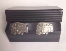 VW Camper Van Cufflinks - Gift Present Best Man Wedding